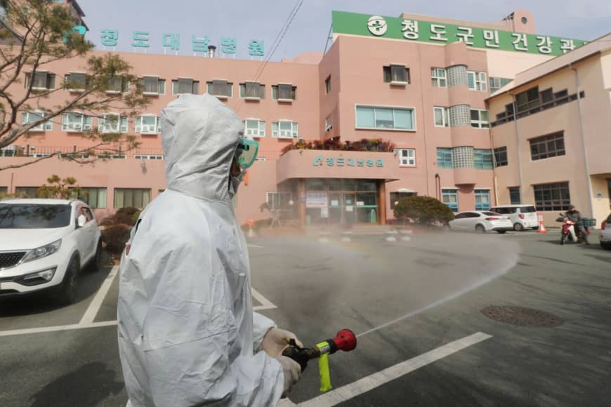 South Korea reports doubling of coronavirus patients to 433, with over 1,000 at new outbreak site feeling ill
