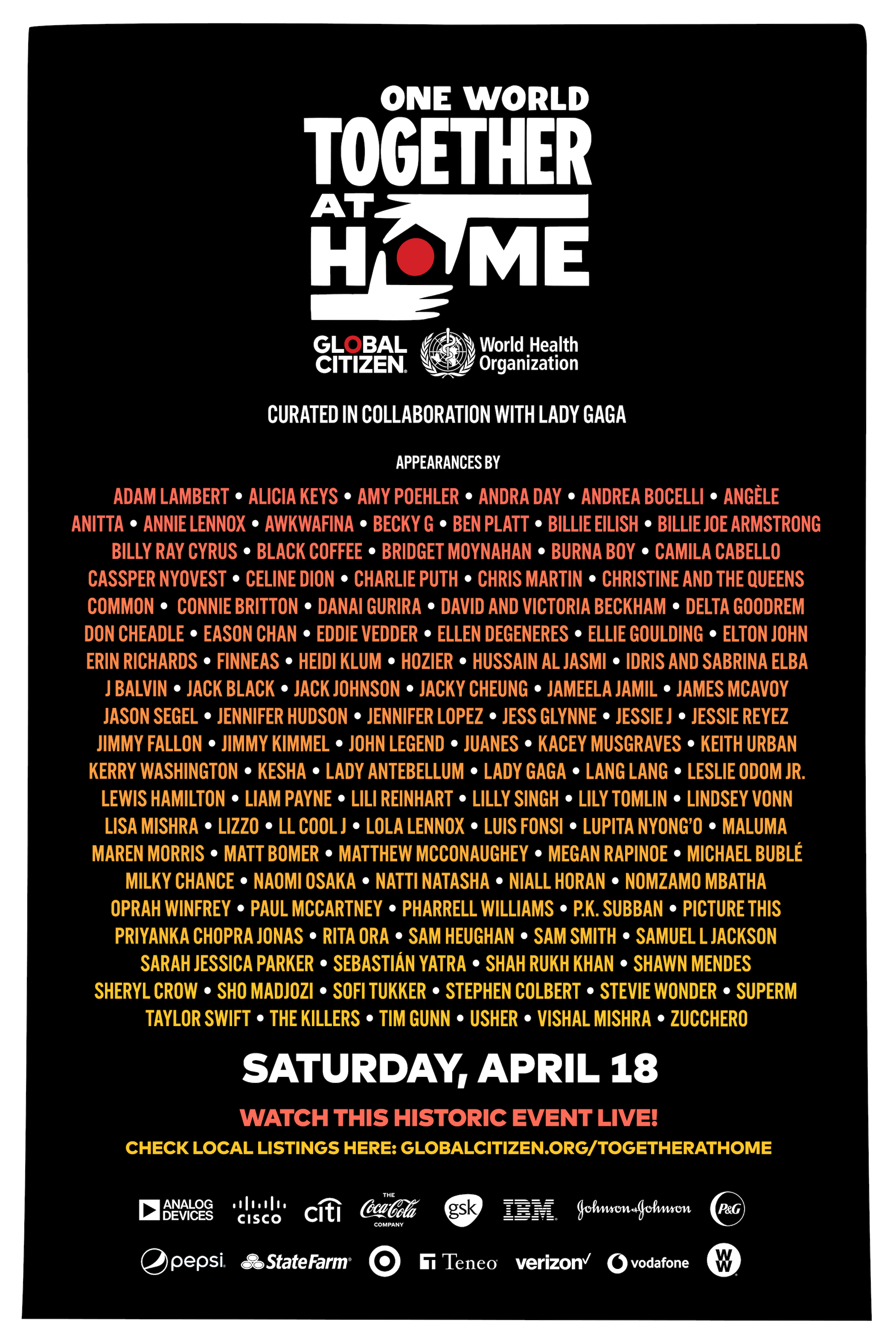 'One World: Together At Home' Adds 70+ Artists Including the Rolling Stones to Historic Lineup