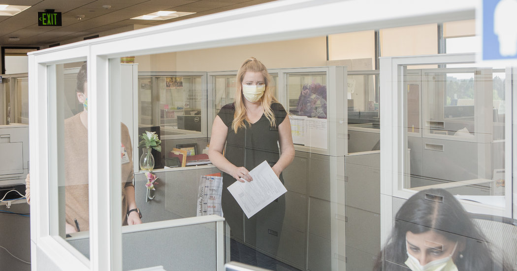 Post-Pandemic Offices Seek Open Flow of Ideas, Not of the Virus
